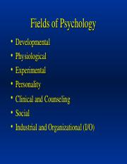 Powerpoint-Intro to Psychology_Fields of Psychology_.ppt