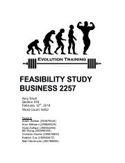 BA 2257 Feasibility Project  EvolutionTraining