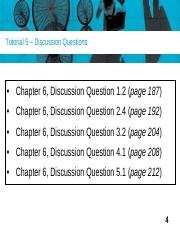 Tutorial 5 Discussion Questions(8)