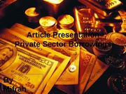 private sector borrowings
