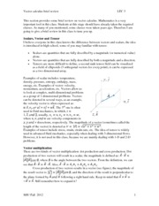 LEC 3 Vector calculus review