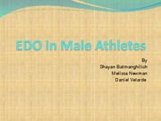 EDO in male athletes final project