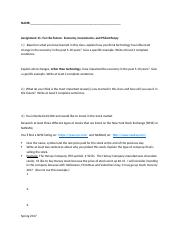 Assignment 11 Economy, Investments, Philantrophy Template(1)
