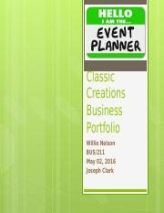 Classic Creations Business Portfolio