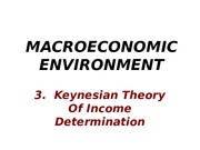 MEE -3 - Keynesian Theory of income determination(2015)