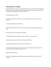 The objectives of auditing.docx
