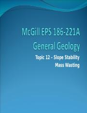 9- mass wasting and slope stability