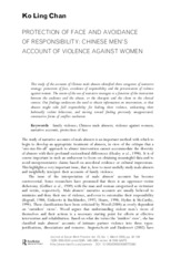 [READ] Chan-K.L.-2009-Protection-of-Face-and-Avoidance-of-Responsibility-Chinese-Men's-Account-of-Vi
