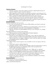 Psychology-Ch 12 Notes