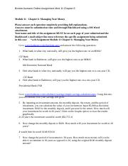 Module 11 Chapter 6 on line assignment.docx