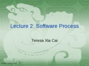 Lecuture 3 Software Process
