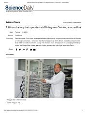 A lithium battery that operates at -70 degrees Celsius, a record low -- ScienceDaily.pdf