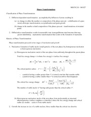 MECH 210 081027 - Phase Transformations