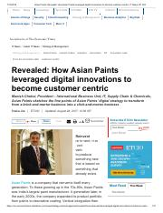 Asian Paints_ Revealed_ How Asian Paints leveraged digital innovations to become customer centric, I