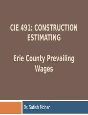 CIE491 Erie County Prevailing Wages (F15)