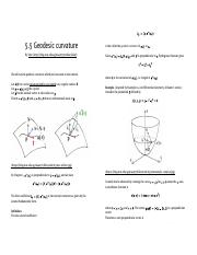 5.5 Geodesic curvature - MA4271 Differential Geometry