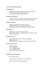 Unit 4 chemistry study guide