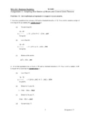 11-Sampling Distribution of the means and CLT