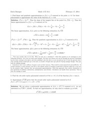 Math 1172 10.1 Solutions Sp 2014