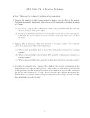 STA 1380 - Fall 15 - Ch. 4 Practice Problems