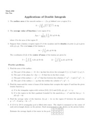Lecture 13 on Applications of Double Integrals