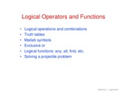 29. Logical operators and functions