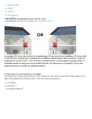 7 REASONS WHY YOU SHOULD OVERSIZE YOUR PV ARRAY _ Sunny