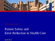 Safety and Quality in the ED 2012