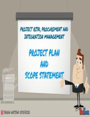 Project Plan and Scope