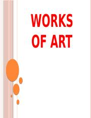 6. WORKS OF ART