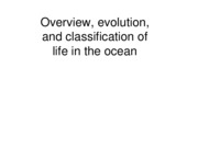 (March 6) Overview_classification_and_evolution_of_life_in_the_ocean