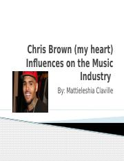 Chris Brown (my heart) Influences on