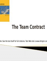 Week 3 - The Team Contract.pptx
