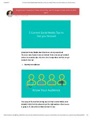 5 Current Social Media Best Practices to Get you noticed There are some basics you need to know….pdf