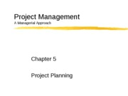 Chapter5-Project Planning