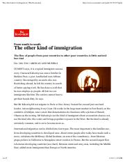 Economist - The other kind of immigration 20161224