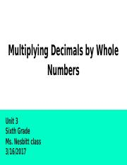 Multiplying Decimals by Whole Numbers.pptx