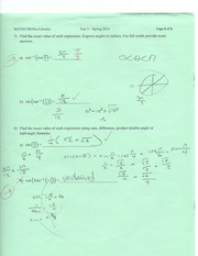 Pre-cal finding exact values of double and half angles practice test