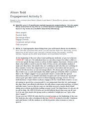 Engament activity 5 Class rules
