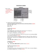 Exam 3 Solutions - Fall '13
