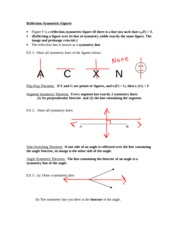 Reflection-Symmetric Figures Project Lesson Notes