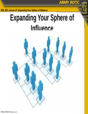 MSL402L17 Expanding Your Sphere of Influence.pptx