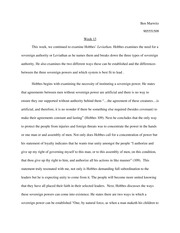 Essay on The Leviathan 1st Half