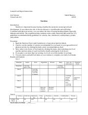 Nutrition lab report #10.docx - Life