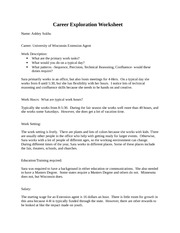 career exploration project essay