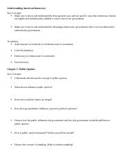 POLS 1101 - Unit 2 Study Guide - Spring 2016