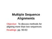 6-Multiple Sequence Alignment