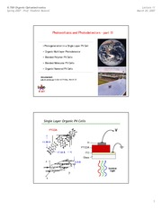 Photovoltaics and Photodetectors - part III notes