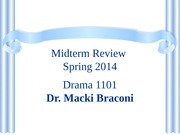 Midterm Review Spring 2014