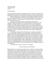 Letter to Ramsey & The Good Old Days Critical Response